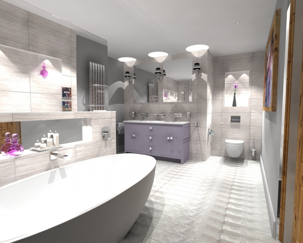 Spotlight On Master Wetroom With Walk Through Dressing Room In Chuck Hatch East Sussex The