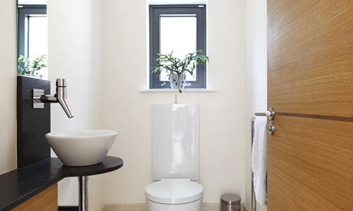Image: Modern cloakroom with clean lines