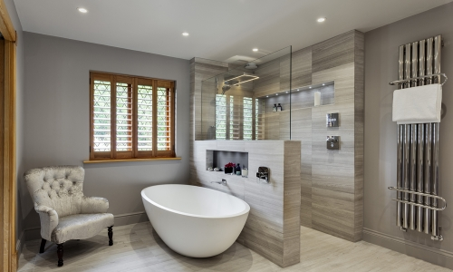 Image: Stunning master wetroom with walk-through dressing room