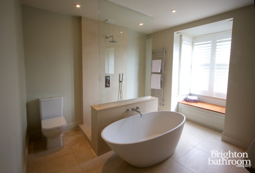 Bathroom Joinery luxurious family bathroom with bespoke joinery —stanford avenue