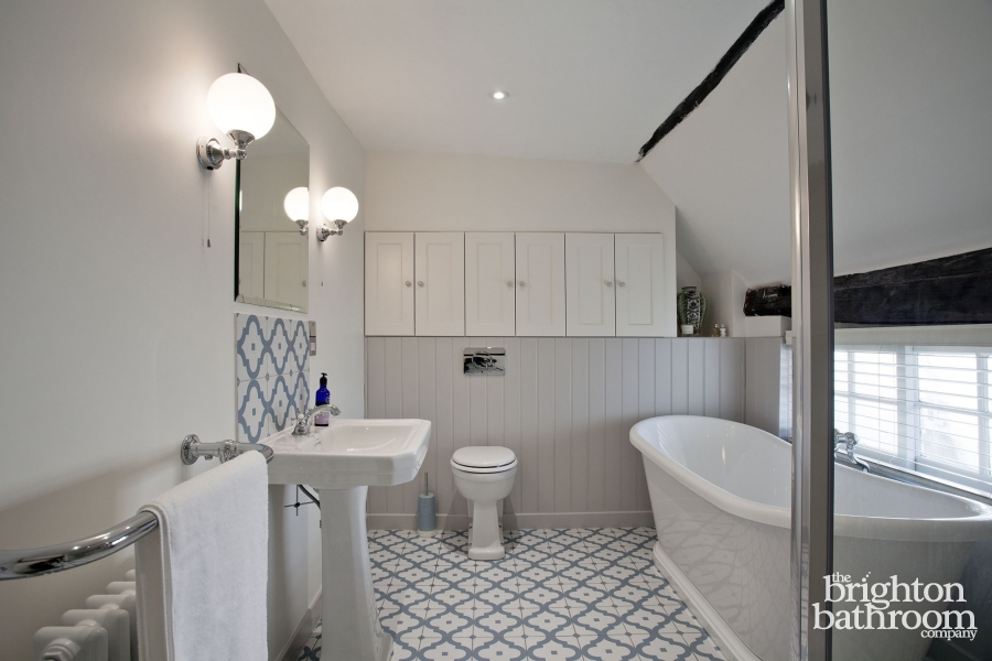 image traditional family bathroom in a grade ii listed cottage - Bathroom Design Company
