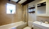 Small Family Bathroom with Timber and Stone —Manor House, Upper Beading