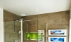 Family Shower Room with Lime Green Accents —Brighton