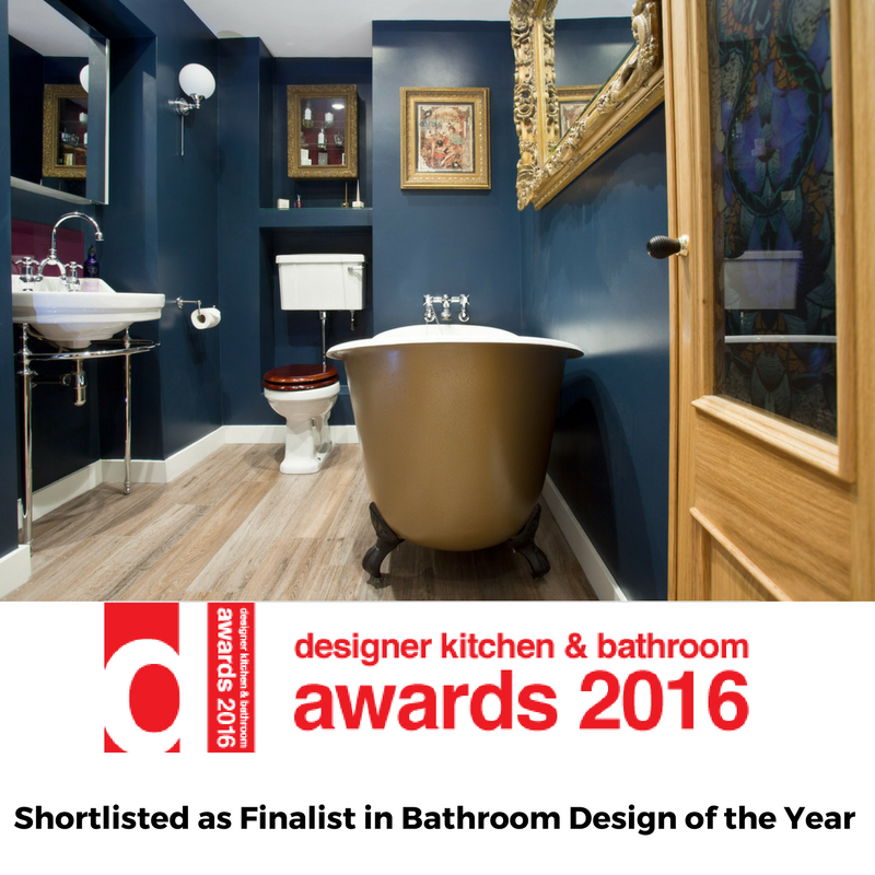 Glamorous Boudoir Bathroom Selected As Finalist For Bathroom Design Of The  Year In The Designer Kitchen U0026 Bathroom Awards 2016