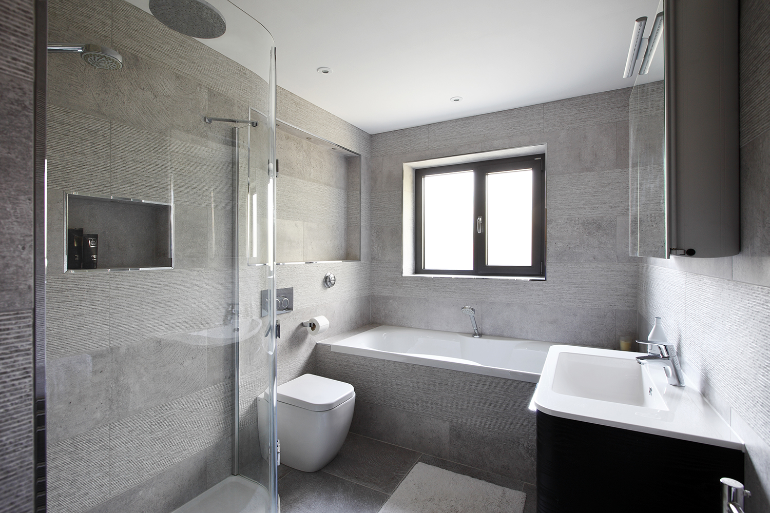 Modern Deluxe Family Bathroom Kingston The Brighton Bathroom Company