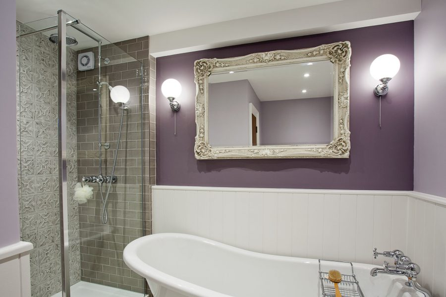 Bathroom with corner shower and freestanding bath —Brighton | The ...