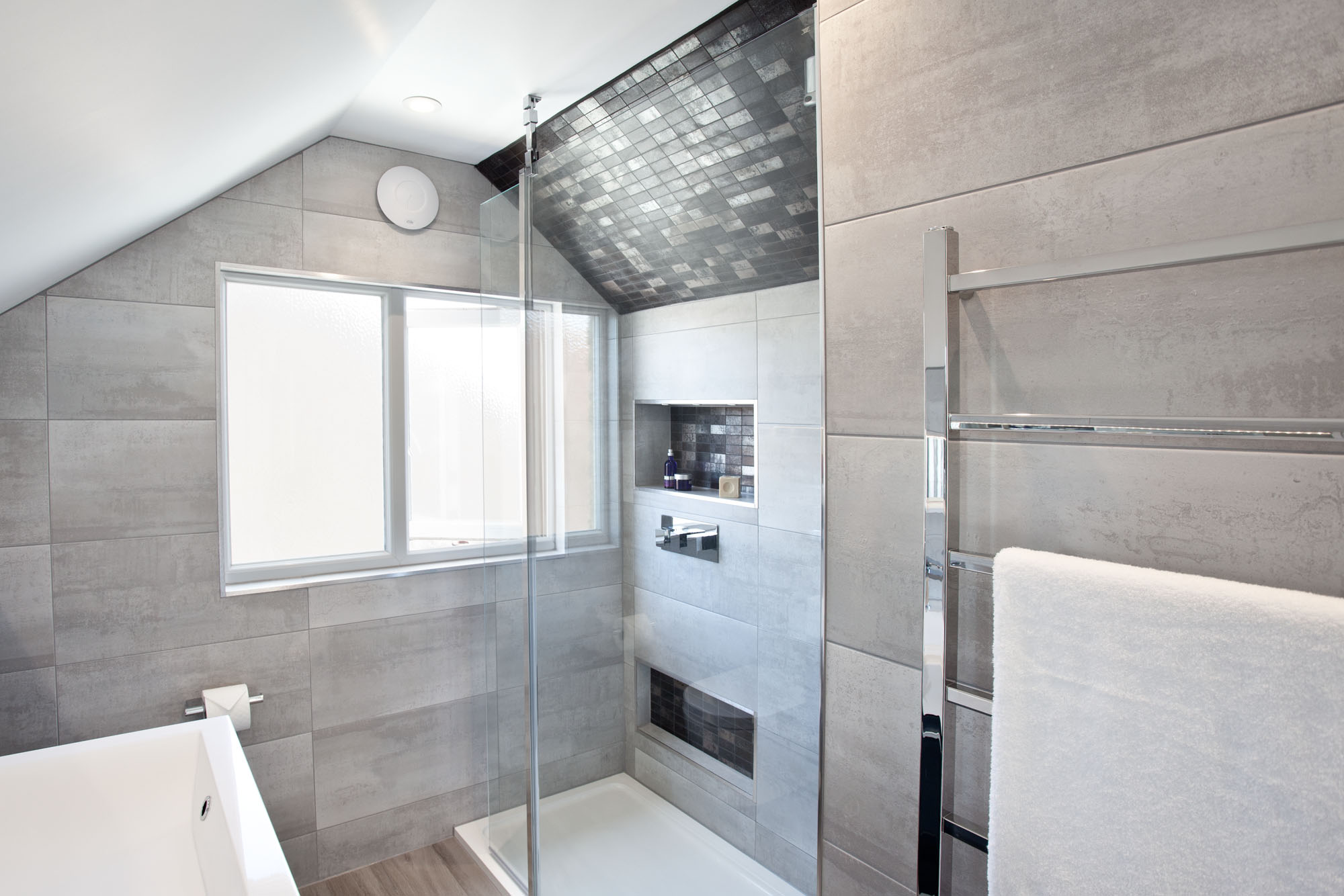 En Suite Bathrooms For Small: Loft Ensuite With Large Shower —Hove