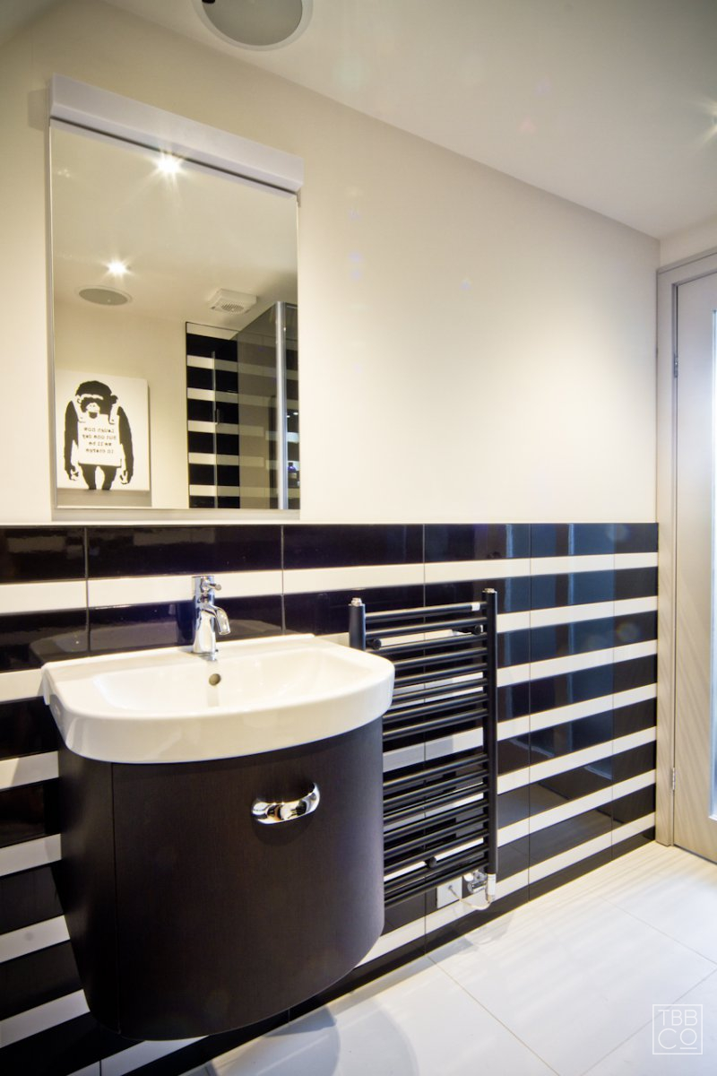 black and white striped bathroom funky black and white striped loft bathroom road 22750