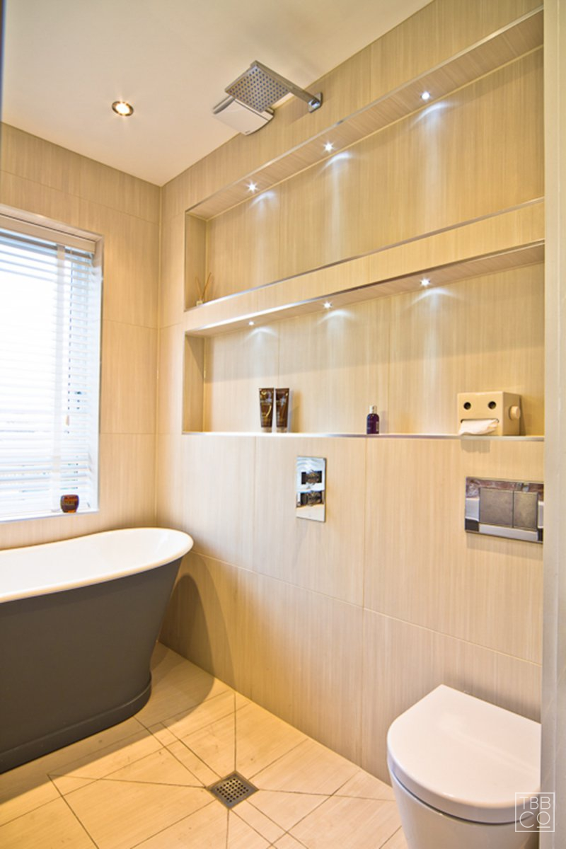 Warm stylish bathroom london the brighton bathroom Bathroom design company london