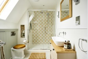 small attic bathroom